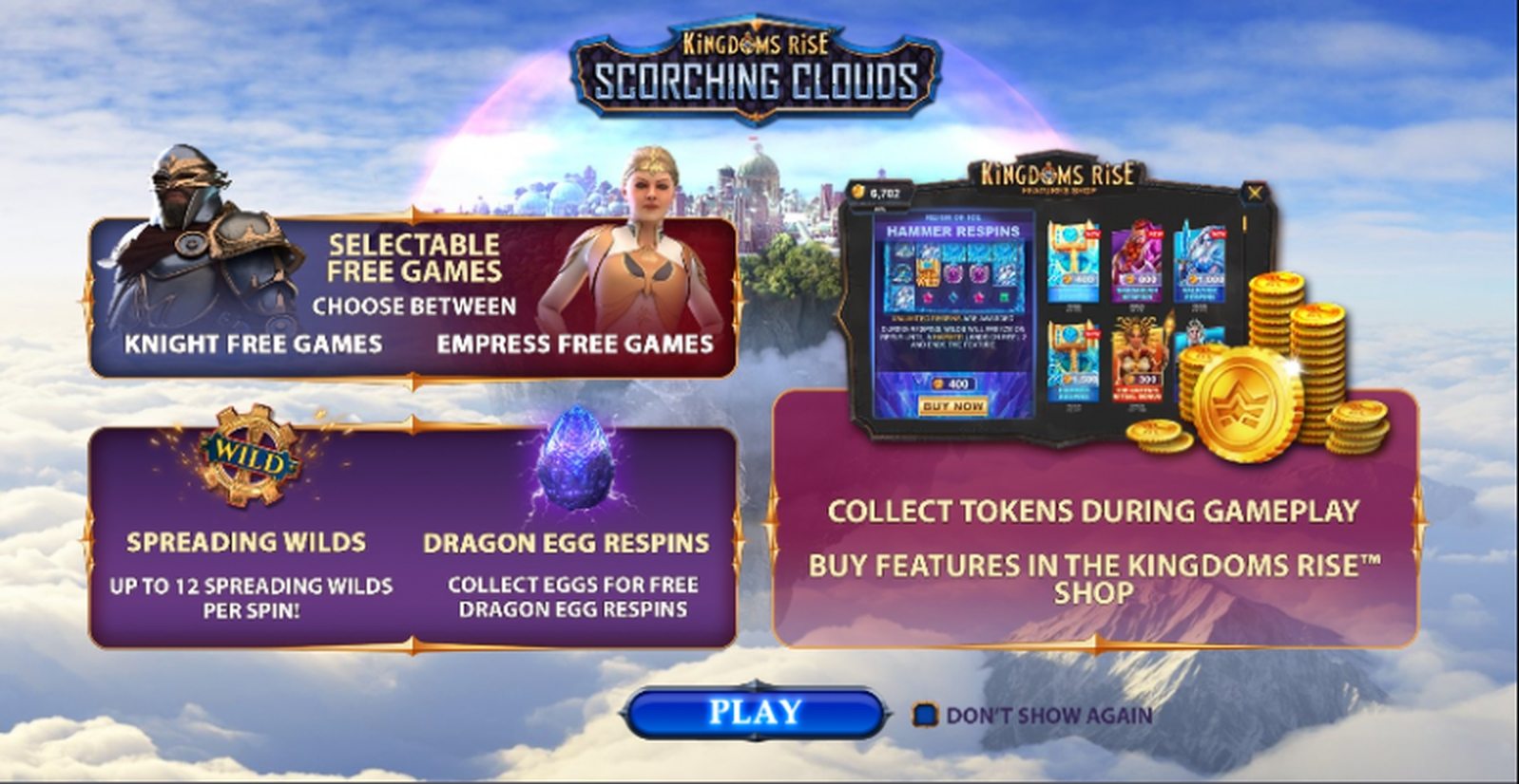 Info of Kingdoms Rise: Scorching Clouds Slot Game by SUNfox Games