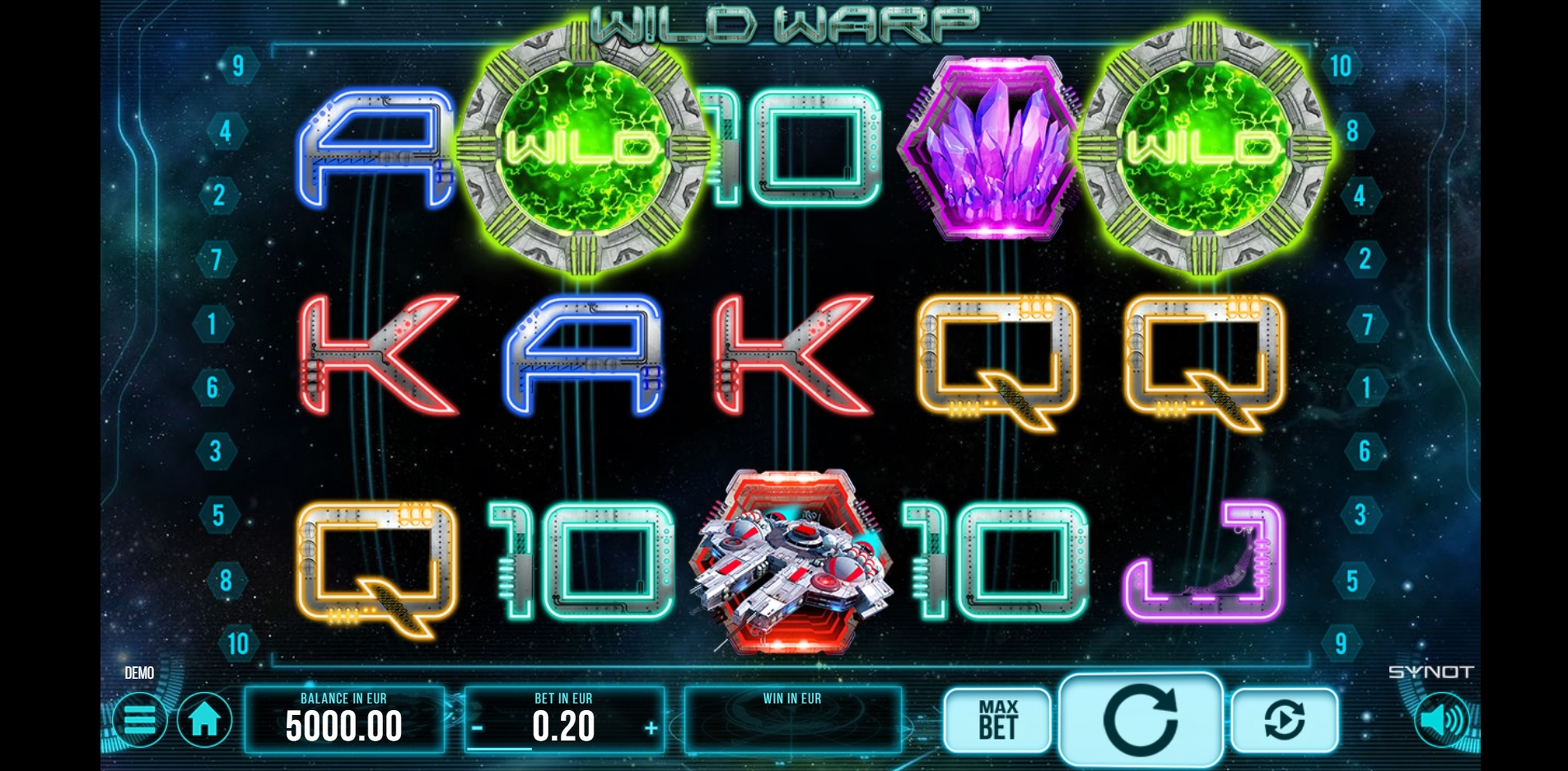 Reels in Wild Warp Slot Game by Synot Games