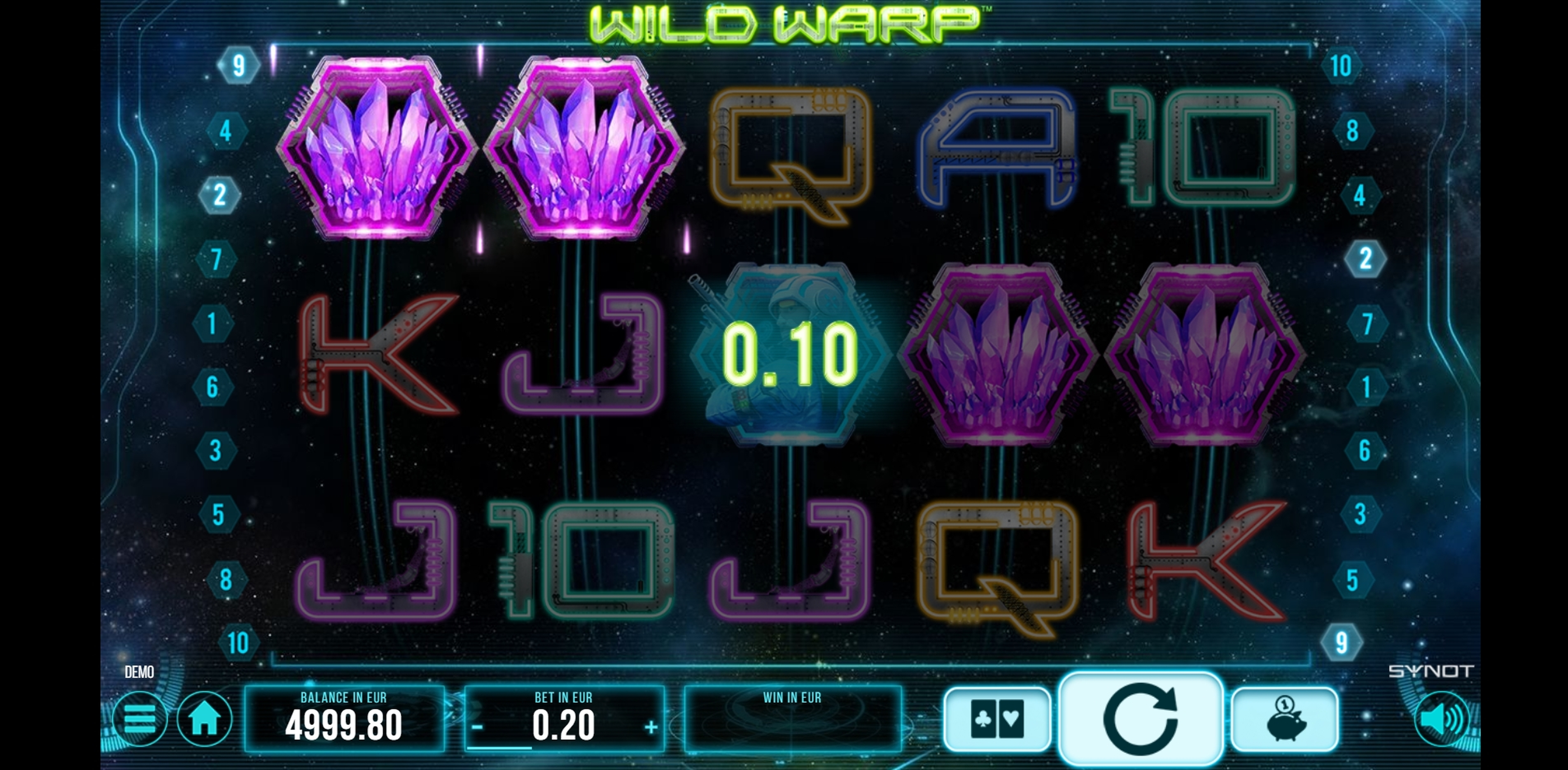 Win Money in Wild Warp Free Slot Game by Synot Games