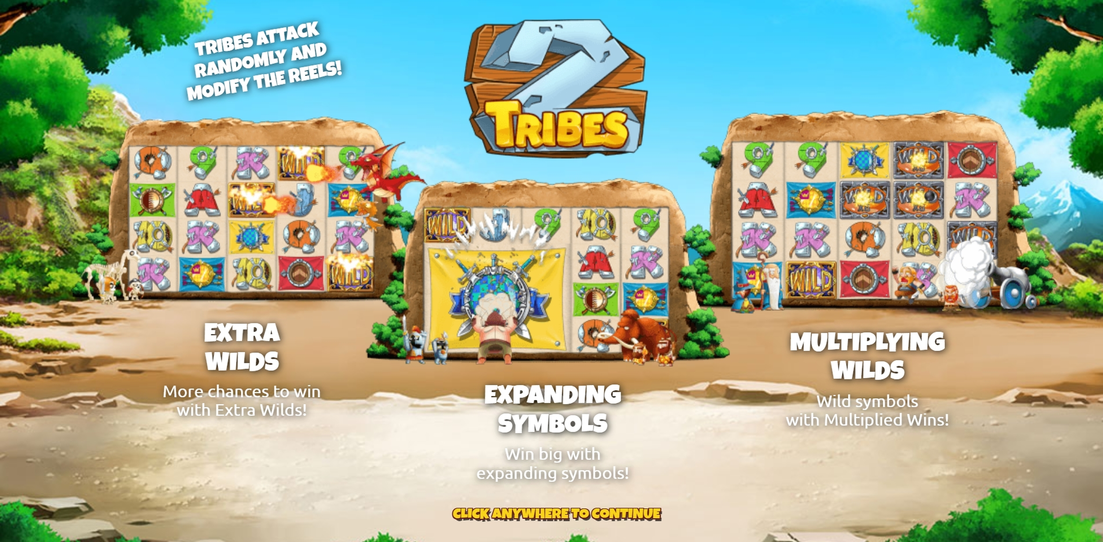 Play Two Tribes Free Casino Slot Game by The Games Company