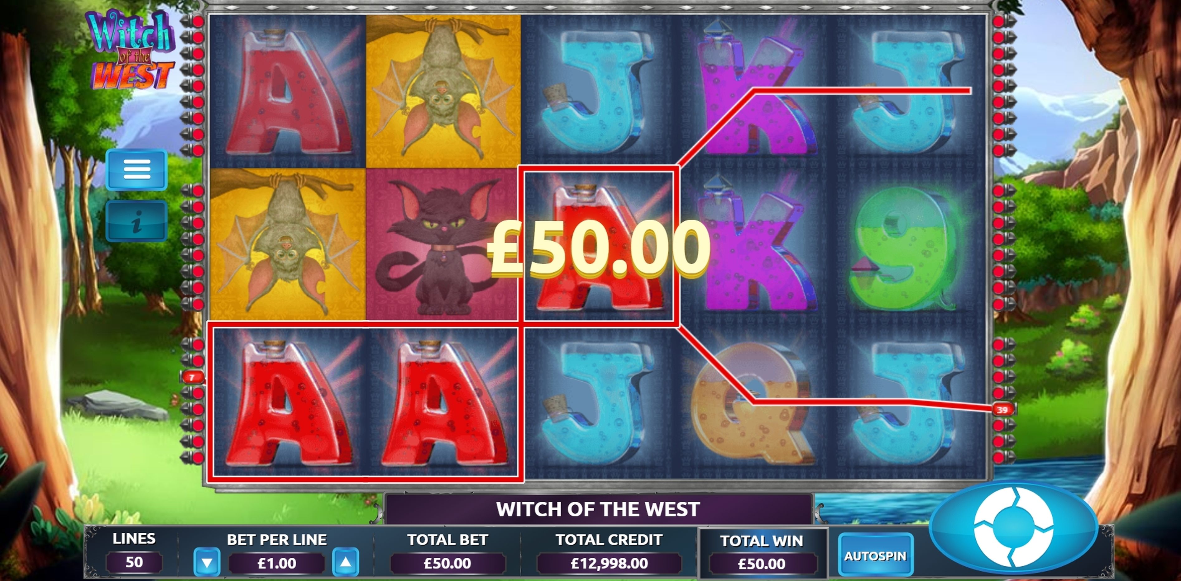 Win Money in Witch of the West Free Slot Game by The Games Company