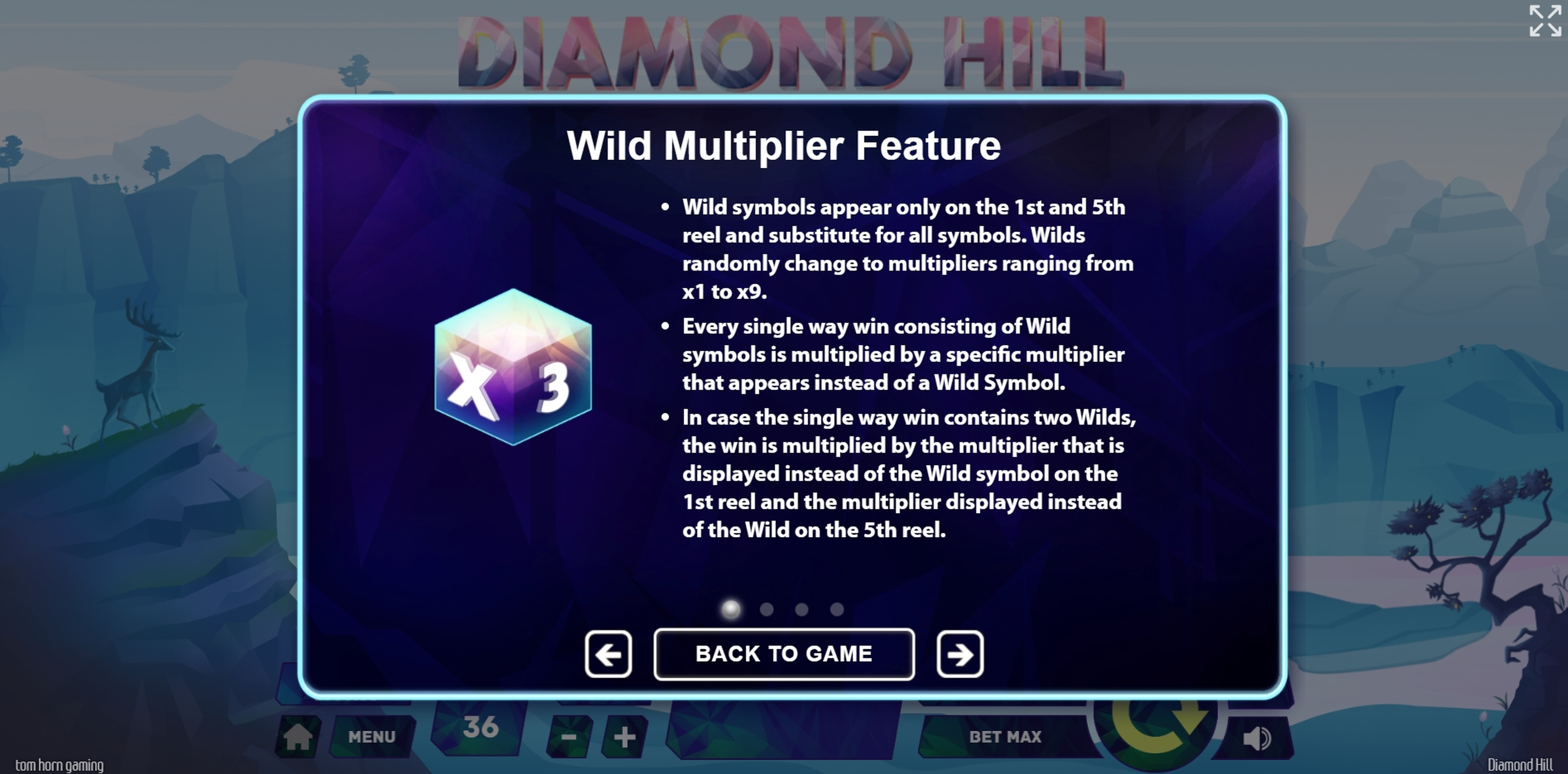 Info of Diamond Hill Slot Game by Tom Horn Gaming