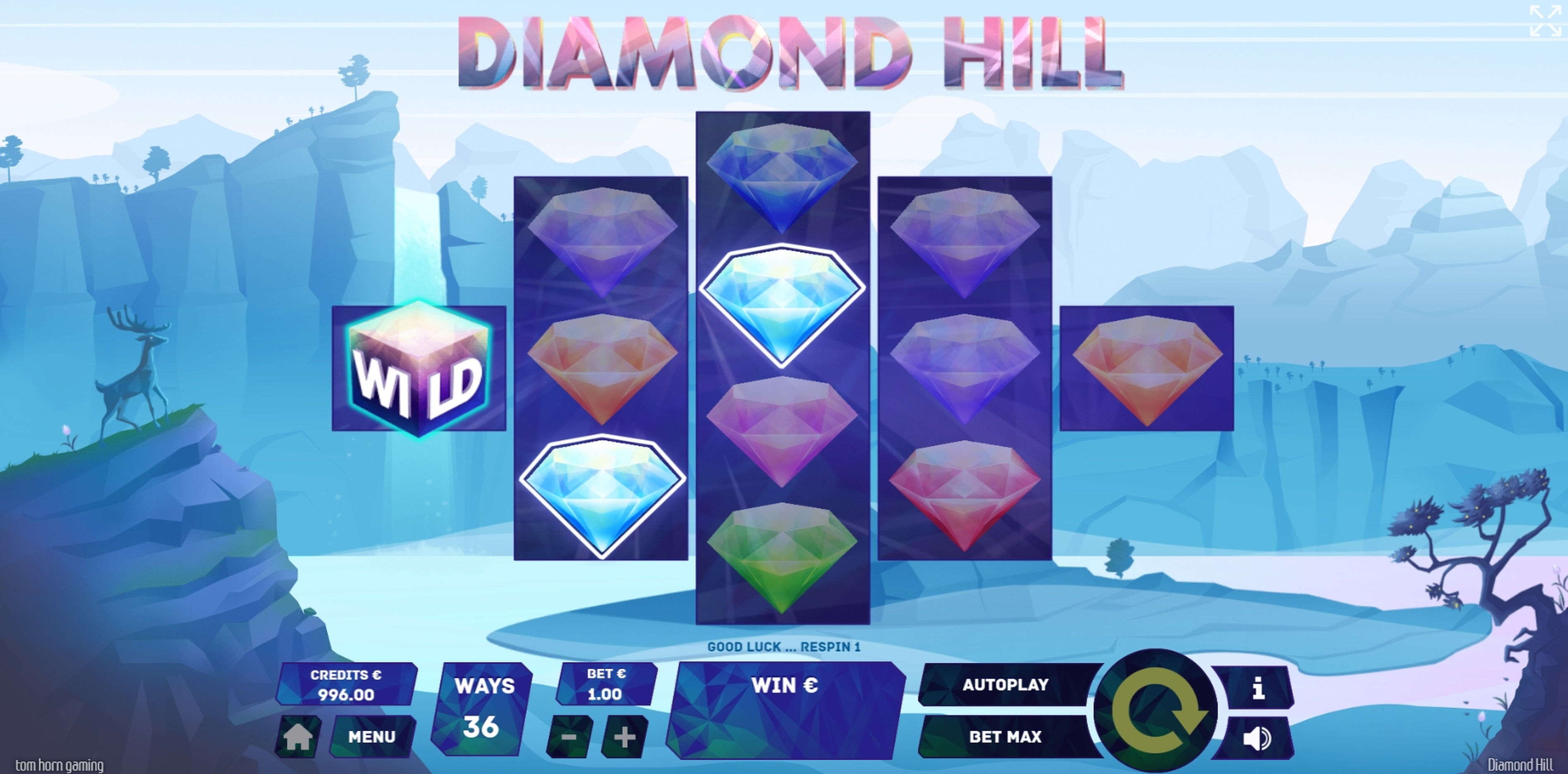 Win Money in Diamond Hill Free Slot Game by Tom Horn Gaming