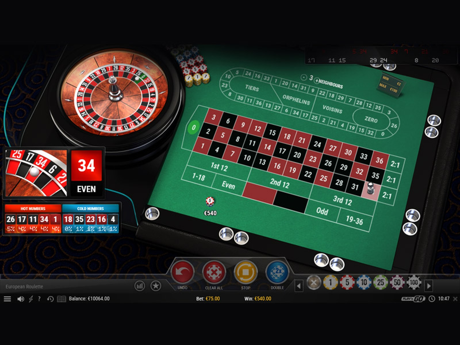 The European Roulette (Top Trend Gaming) Online Slot Demo Game by TOP TREND GAMING