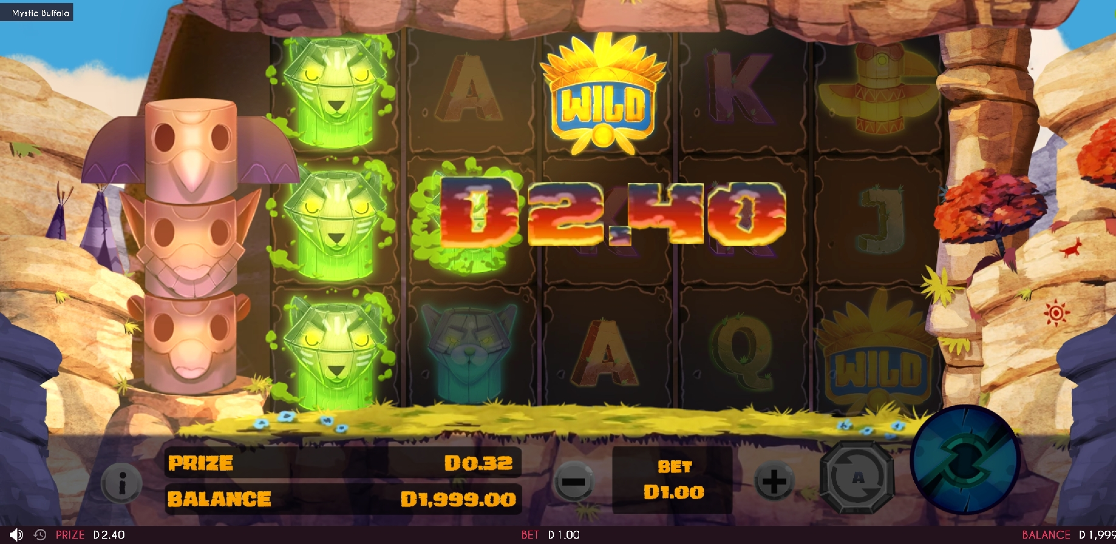 Win Money in Mystic Buffalo Free Slot Game by Triple Cherry