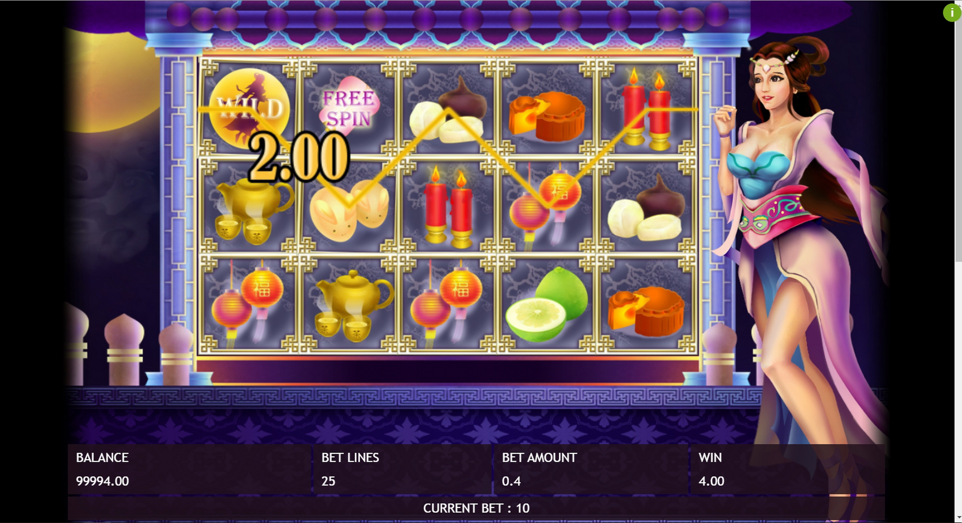 Win Money in Full Moon Festival Free Slot Game by Triple Profits Games
