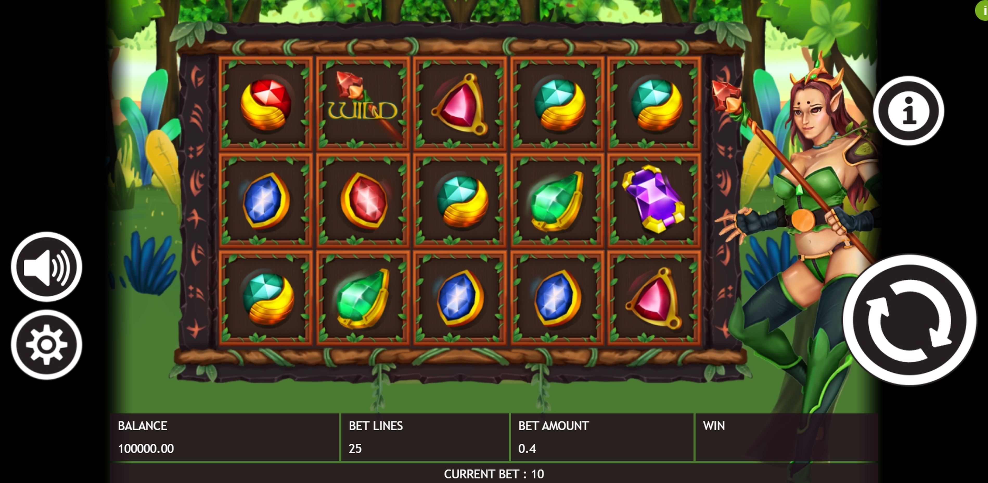 Reels in Gemstone Legend Slot Game by Triple Profits Games