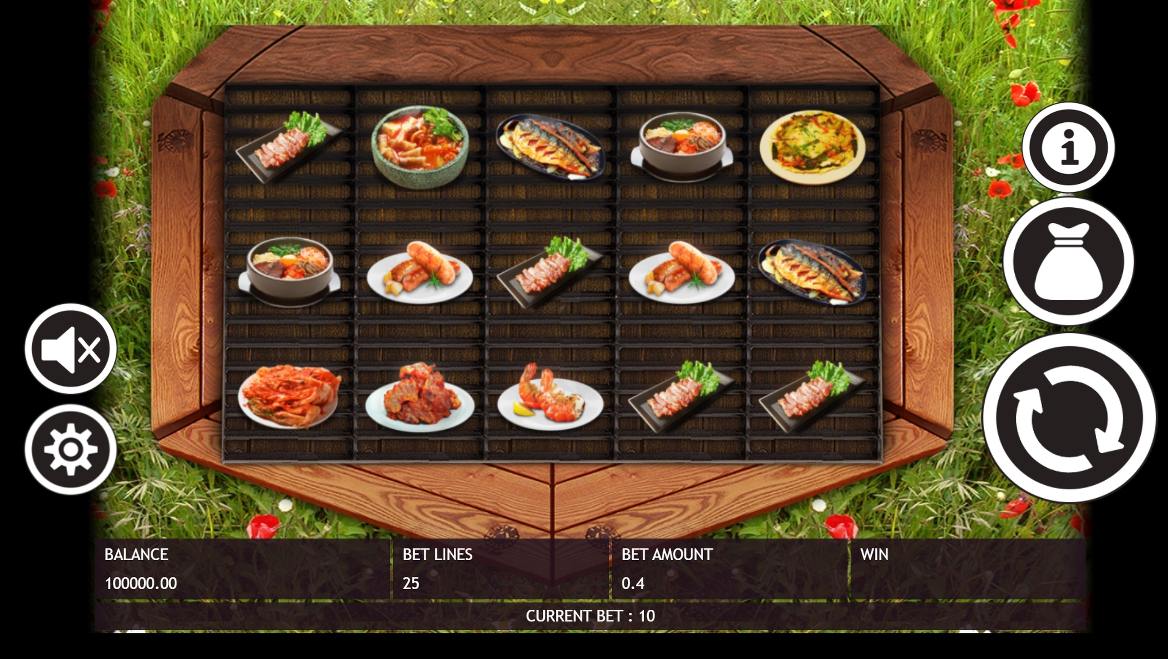 Reels in Korean BBQ Slot Game by Triple Profits Games