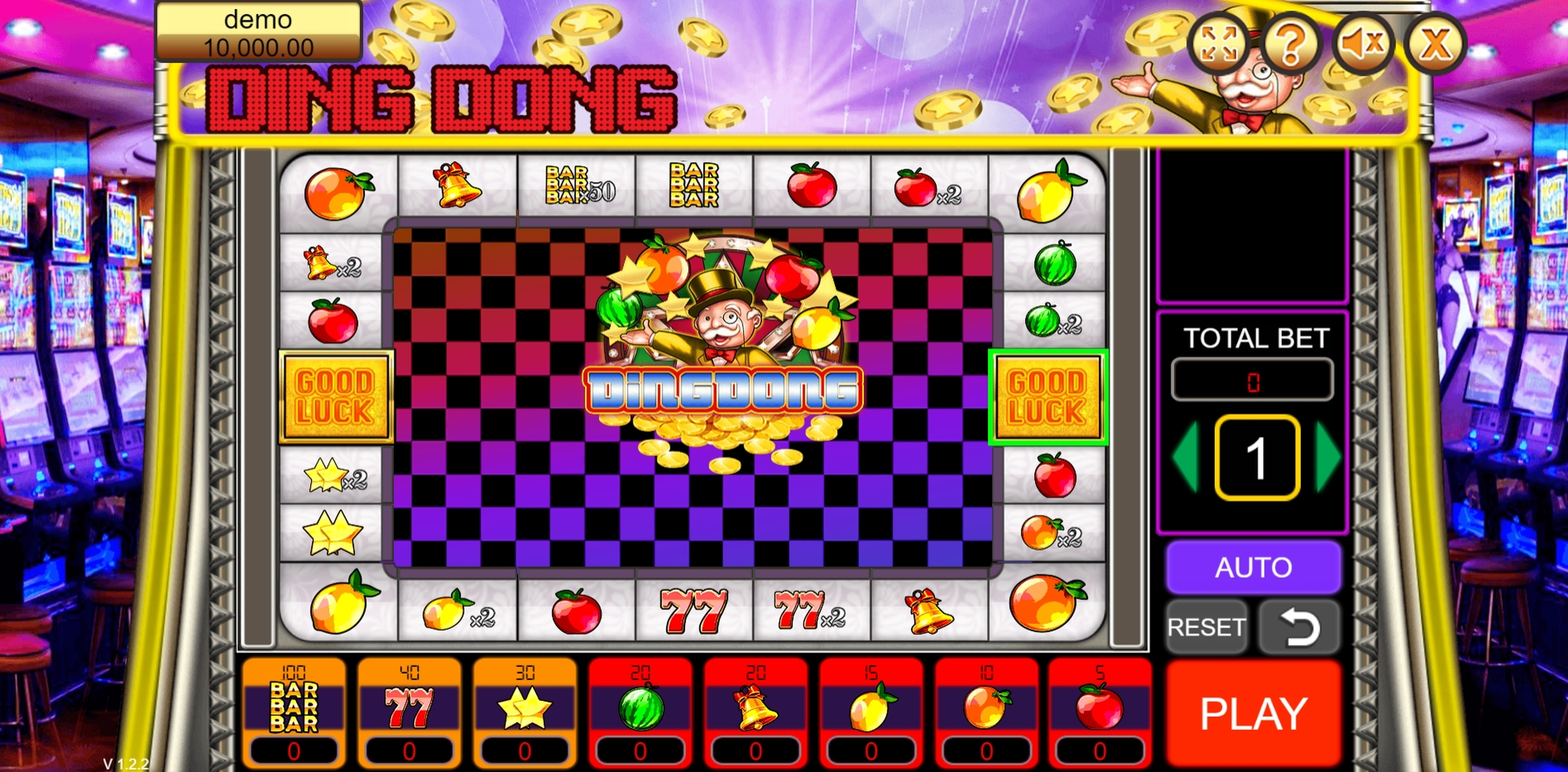 Reels in Ding Dong Slot Game by Vela Gaming