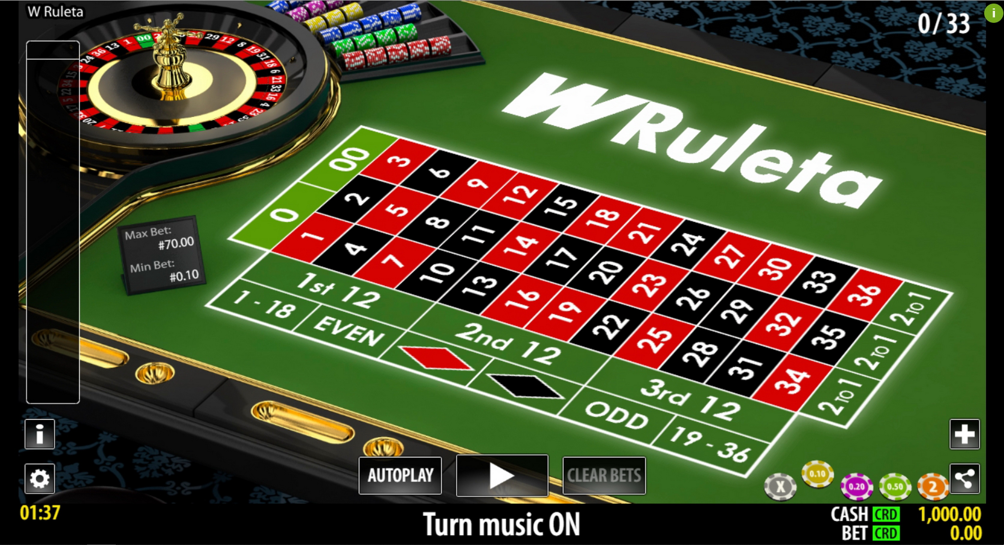 Reels in W Ruleta (World Match) Slot Game by World Match