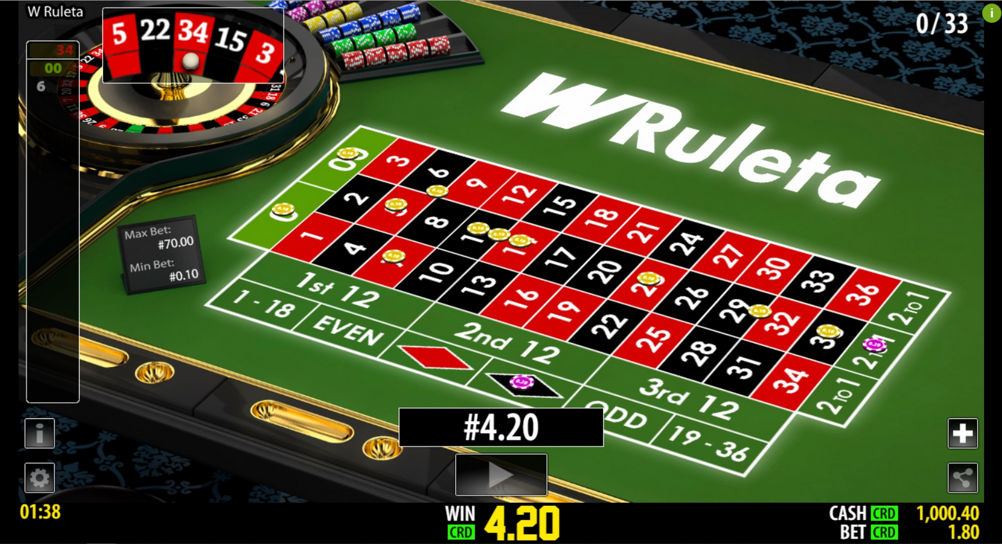 Win Money in W Ruleta (World Match) Free Slot Game by World Match